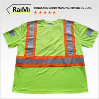 cool dry work shirt 2016 high vis t shirt green & yellow men's t shirt safety for summer
