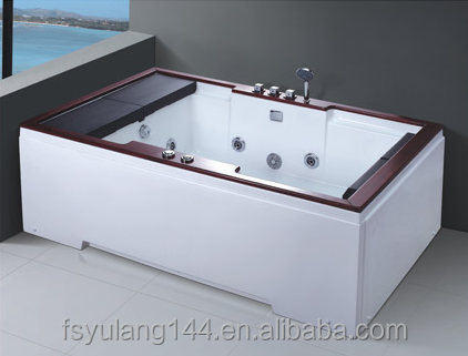 AD-662 Guangdong factory double bathtub 1800*1200MM jakuzi price cheap whirlpool tube