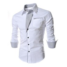 Gothic Casual shirt men slim fit spring long sleeve cotton Autumn personality shirts black White male dress shirts