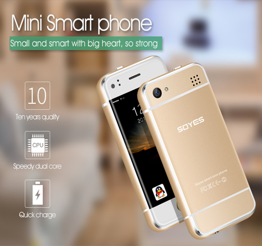 "Original Soyes 6S Mini Android Smart <strong>Phone</strong> 2.4"" High Resolution Screen MTK6571 Dual Core 1GB RAM 8GB ROM 2.0MP Dual SIM <strong>Phone</strong>"