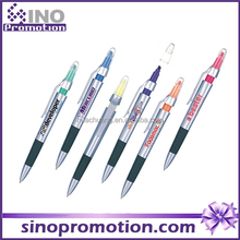 multi color highlighter offer logo printed service promotion 5 color ball pen with highlighter