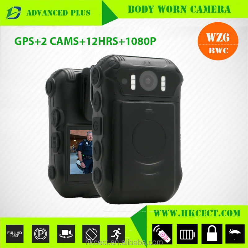 1080P <strong>Wifi</strong> IP67 Police Security Body Worn Camera with 4G Transmission GPS dual lens body camera