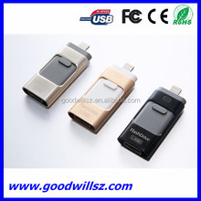 2016 new selling gift 3in1 otg usb flash drive usb stick for computer and smartphone