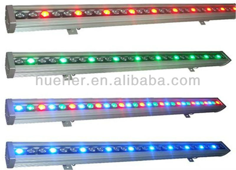 Factory Direct rgb led full color rotating lamp wall washer light waterproof ip65 AC100-240V led outdoor wall light