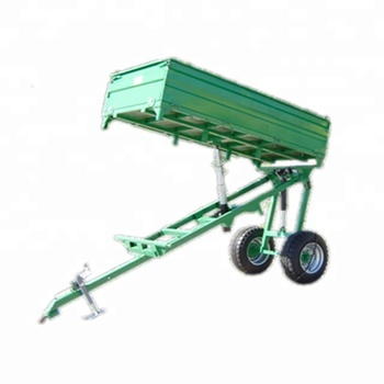 3 Sides Tipping Trailer high lift three ways tipper trailers, heavy duty high quality agriculture traolers 2 wheels