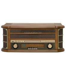 Radio Cassette Multifunctional Gramophone Record Turntable CD Player