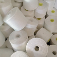 Hubei Welljoy Factory Raw White 40s/2 Ring Spun 100% Sinopec Yizheng Pure Polyester Yarn for Sewing Thread or for Dyed