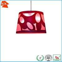 Popular drum laser cut fabric shade colorful party decorative hanging lamp