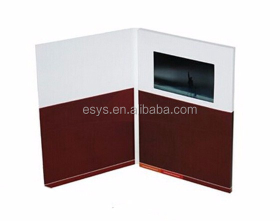"Hot sale 4.3"", 5"", 7"" LCD video brochure/ video greeting card for business promotional"