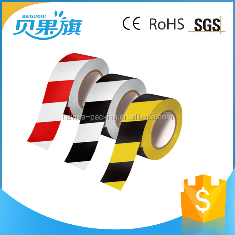 Yellow And Black Floor PVC Marking Tape warning tape,cable warning tape