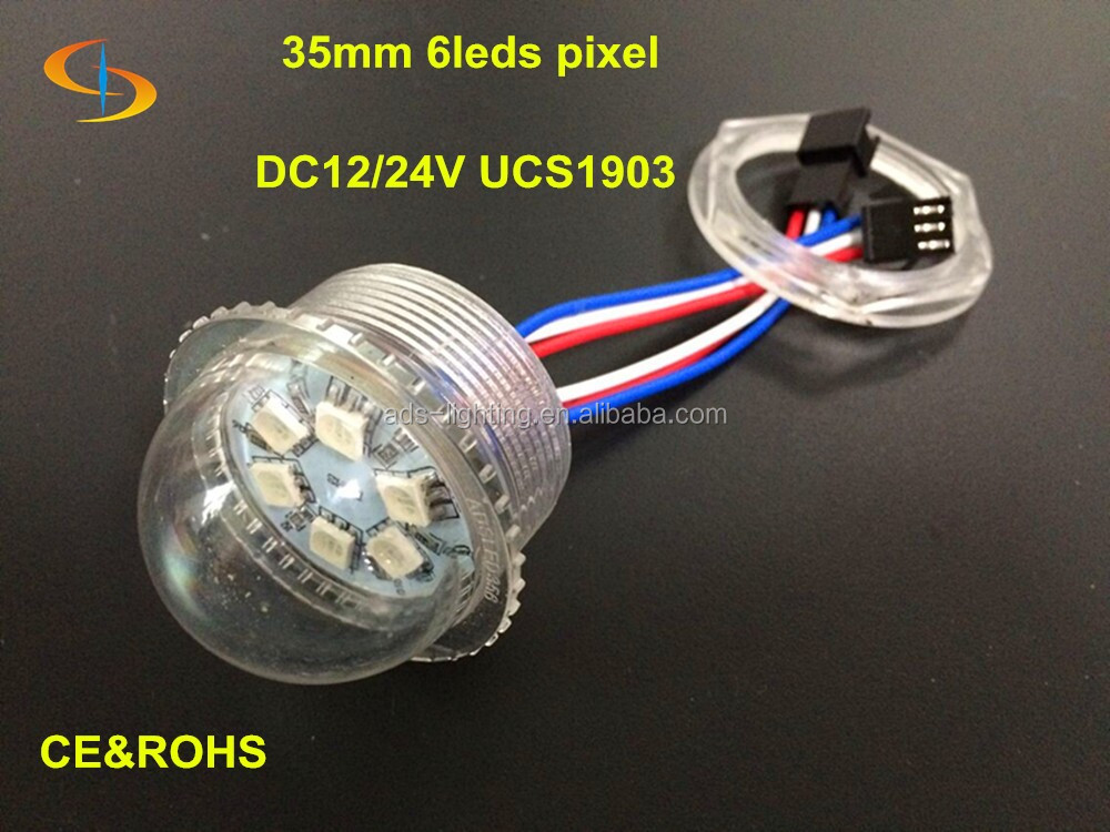 dc12v/24v color changeable RGB led pixel light ucs1903 35mm