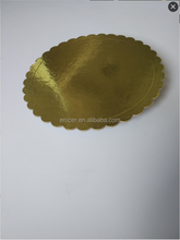 Cake Boards With Gold PET Film paper dish mono cake pads