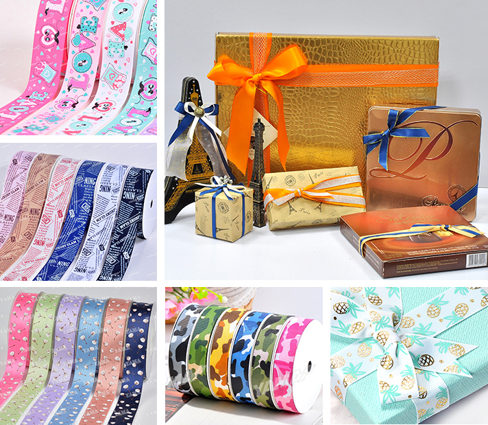 Custom Printed Wholesale Grosgrain Ribbon
