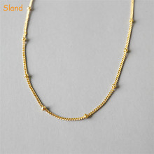 factory custom Minimalist bolo jewellery delicate 14k real gold plated sterling silver chain <strong>necklace</strong> with beads