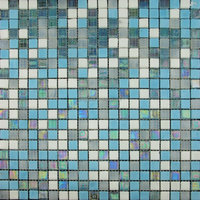 swimming pool mix color glass mosaics tile modern house (PMIX01)