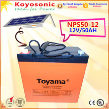 Reliable 12v 50AH VRLA GEL Deep Cycle Solar energy storage batteries Lead Acid rechargeable PV battery