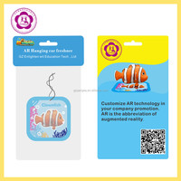 Perfume Hanging car freshener for brand promotion with Augmented Reality