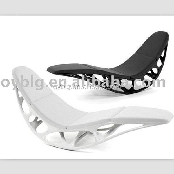 Fashion comfortable fiberglass rocking chair in simple design for relax