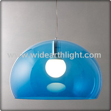UL CUL Listed Hotel Adjustable Drop Blue Glass Ball Pendant Light For Dinning C30137