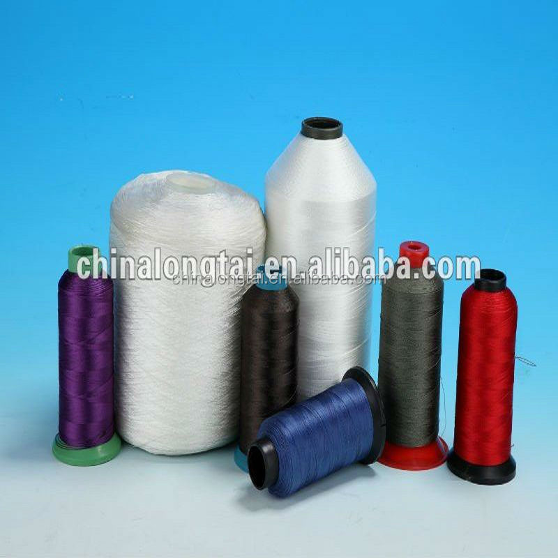 color sewing shose cloth polyester nylon braided waxed thread