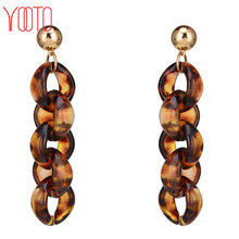 Fashion long colorful plastic stud earrings for young girl