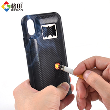 Mutifunctional for iphone x black case cover electric lighter and opener bottle