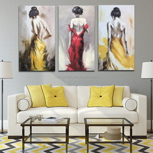 half-naked women back painting gulgee art painting