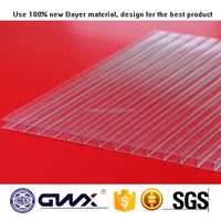PC green house hollow sheet polycarbonate roofing 2016 new product for sales