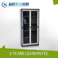 Modern office furniture steel storage cabinet /metal filing cabinet with glass door