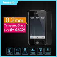 Front Tempered Glass Screen Protector For iPhone 4/4S Anti-shutter&Cracked 9H 0.2mm for iPhone 4/4S