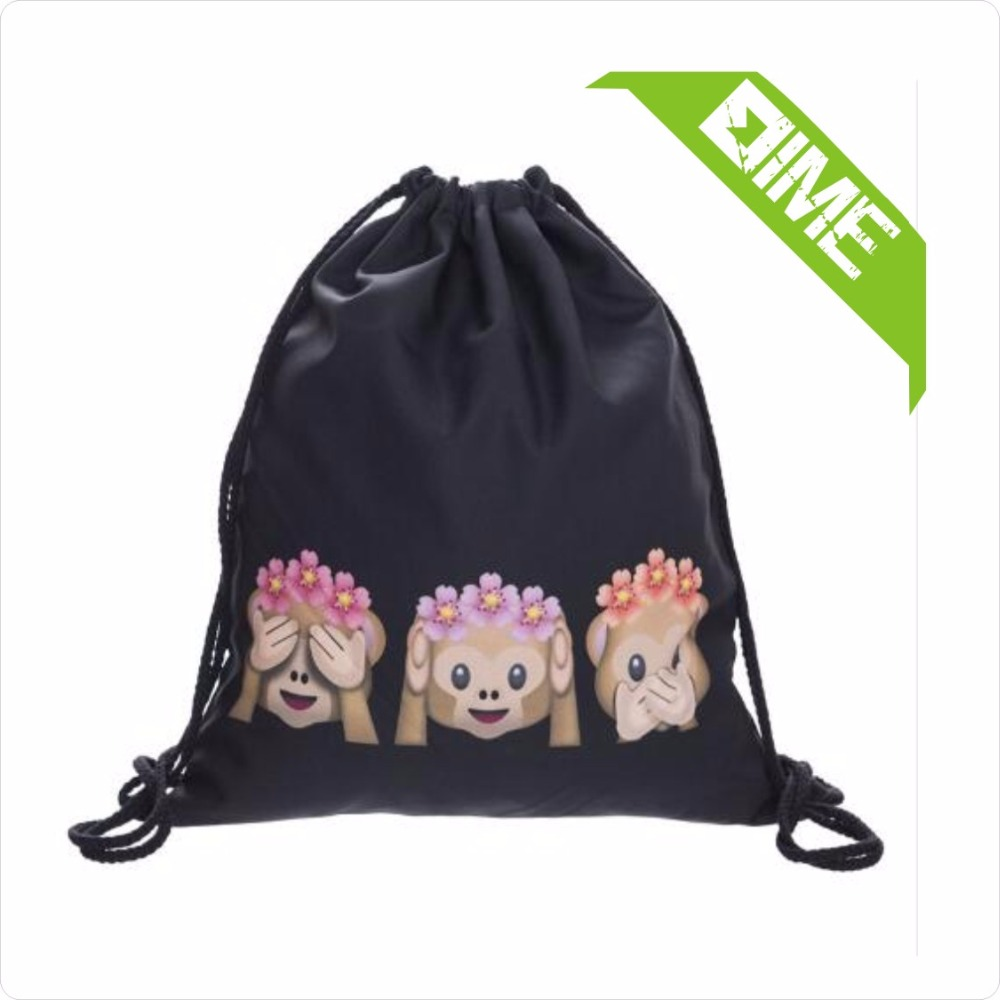 210D Polyester Tote Bag Shopping Double Drawstring Bag