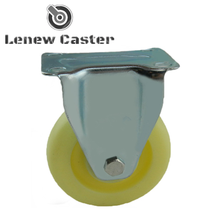 Caster wheel for folding metal shopping trolley