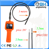 "17mm probe video inspection 1 M snake scope camera borescope 2.4"" HD lcd"