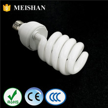 China E27 daylight high power 65w cheap cfl bulb half spiral energy saving light