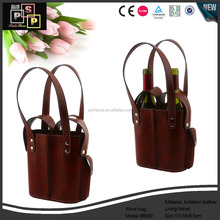 Carnival celebrating firm PU leatherette double wine bag