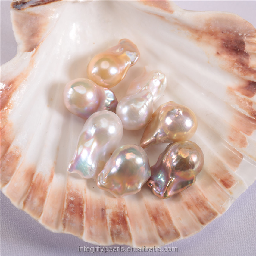 15-16mm width AA+ grade nuclear baroque pearl freshwater cultured 15mm loose pearls
