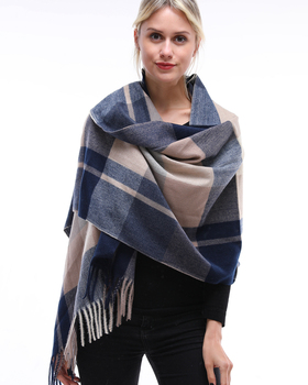 wholesale cheap fashion solid color cotton women polyester oblong acrylic scarf  colors for choice