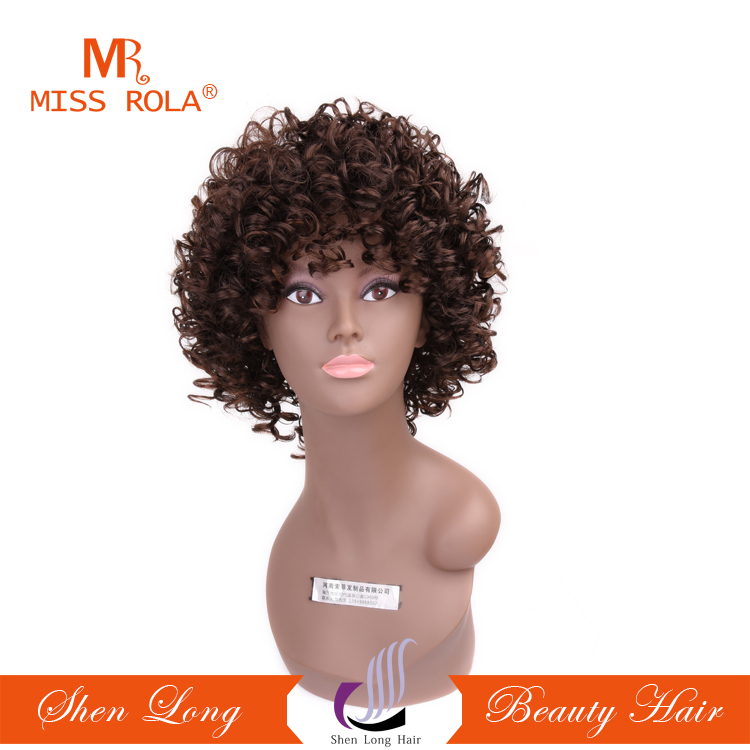 New fashion Kinky Curly Hair Wigs for Black Women Fluffy Wavy Black Synthetic Wig Natural Looking Heat Resistant Wigs