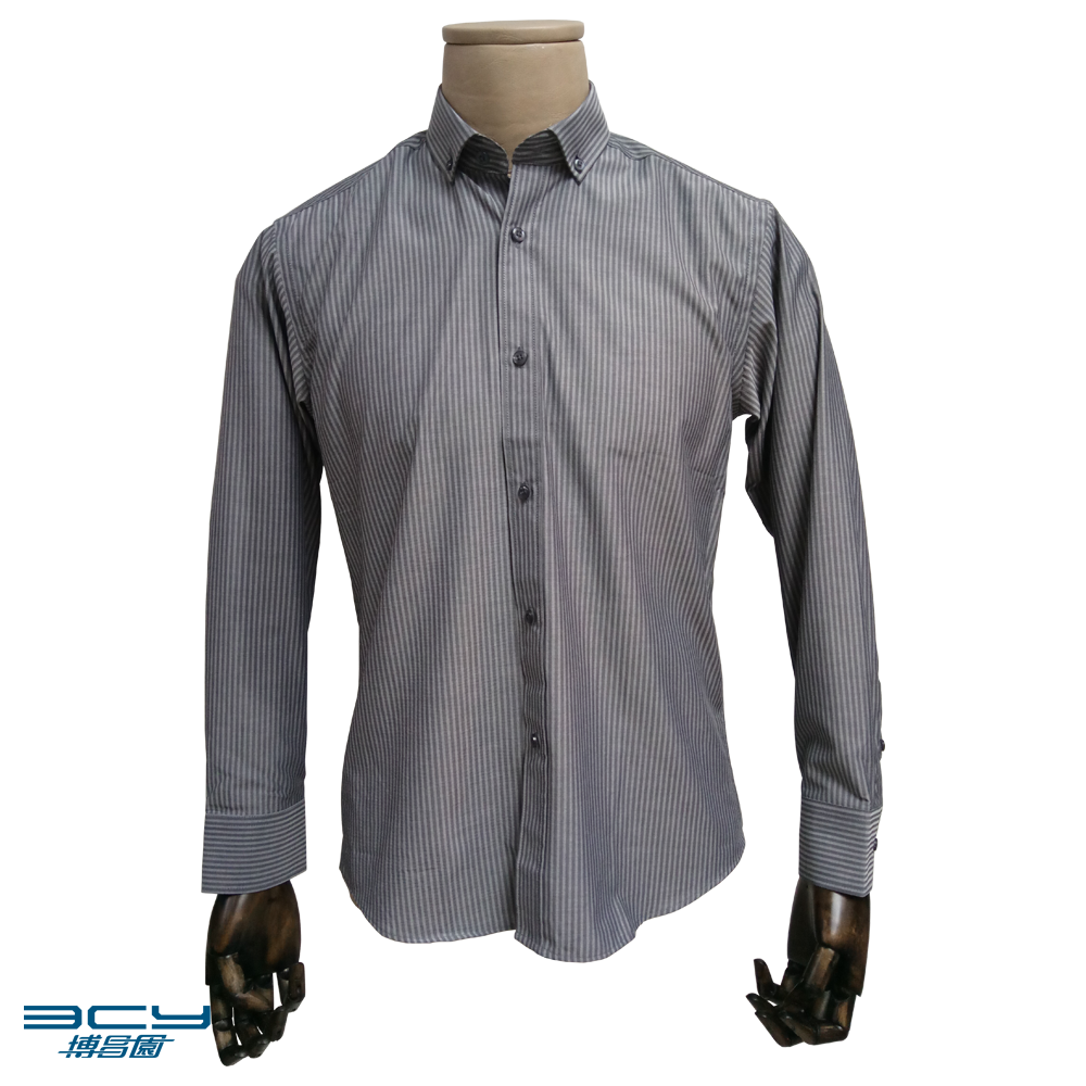 Cotton CVC TC Casual Business Dress Shirts for Men (In-Stock)