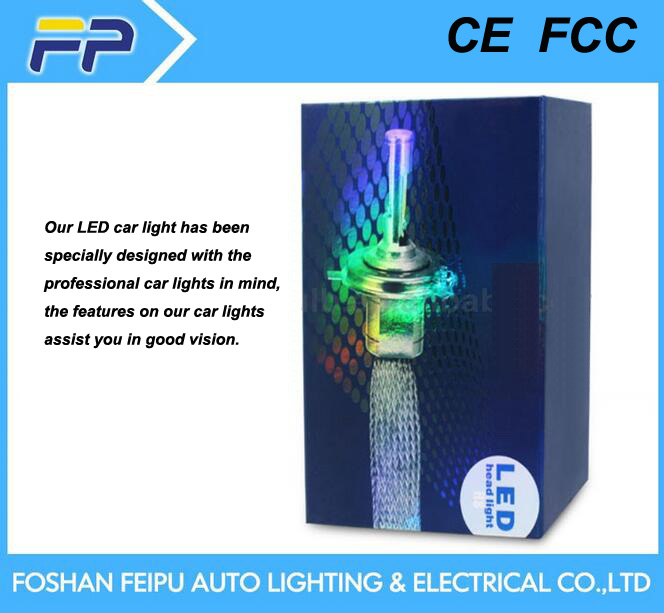 80W Blanco y azul de luz LED de las luces del coche coche de cabeza car led light