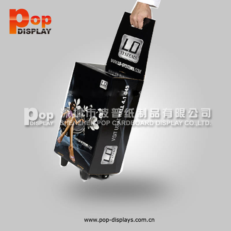 cheap paper trolley for exhibition advertising shopping trolley bag