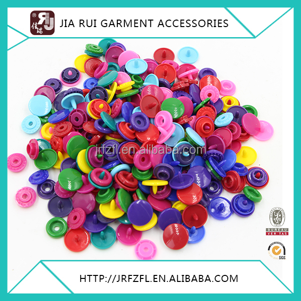 RESIN WHITE AND COLORFUL PLASTIC SNAP BUTTON FASTENERS PRESS STUD POPPERS T3/T5/T8
