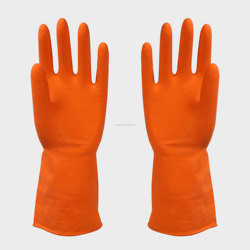 flock lined household cleaning cleansing clean rubber latex gloves china manufactures