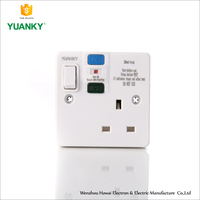 China Manufacturers High quality Single RCD Plastic and UF Socket,Switched