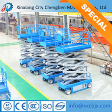 pull-behind hydraulic scissor type lifter for rental business