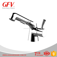 GFV-BF1135 Unique design Chrome Waterfall Bathroom brass basin faucet