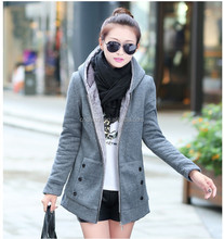 Z10769A Latest sweater designs for young women zipper up thicken cotton hoodies