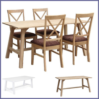 Dining room Furniture/ China manufacture hand craft oak wood dining table and dining chairs