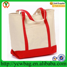 Durable Large size cotton canvas tote shopping bag