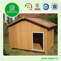 Waterproof outdoor garden wood dog house